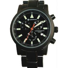 Pilot Men's Round Face Chronograph Link Watch