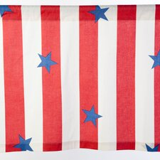 Stars and Stripes Cotton Rod Pocket Tailored Curtain Valance