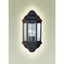 Vanda Outdoor Wall Lantern in Black