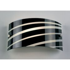 Sloping Stripes 1 Light Wall Flush Light
