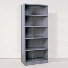 Industrial Clip Closed Shelving: Beaded Post Units with 6 Shelves; Starter Unit