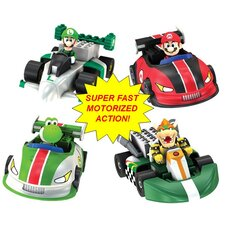 Mario Kart Wii Motorized Kart Bundle: Mario, Yoshi, Luigi, Bowser Building Set