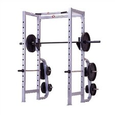 High Impact Commercial Power Rack with Plate Storage
