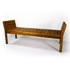 Teak Inlay Bench