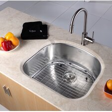 "23.25"" x 20.9"" Undermount Single Bowl Kitchen Sink"