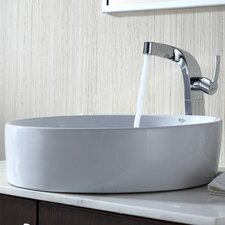 Bathroom Combos Single Hole Waterfall Typhon Faucet and Bathroom Sink