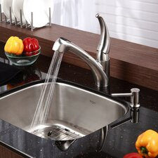 "Stainless Steel 20"" x 17.75"" Undermount Single Bowl  Kitchen Sink with 10.75"" Faucet and Soap Dispenser"