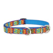 "Peace Pup 3/4"" Adjustable Medium Dog Combo Collar"
