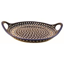Round Serving Tray with Handles