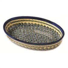 "11"" Oval Baking Pan - Pattern DU1"