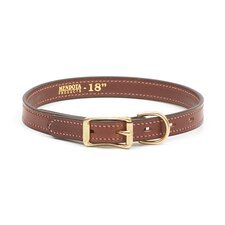Wide Standard Collar in Chestnut