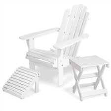 Solid Maple  Adirondack Chair with Matching Footrest & Side Table