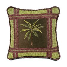 Tahiti Polyester Hand-Painted Palm Tree Decorative Pillow