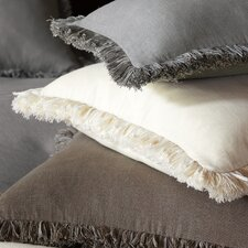 Breeze Mitered Polyester Decorative Pillow with Brush Fringe