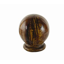 Banana Bark Globe Curtain Finial (Set of 2)