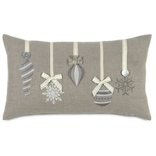 Dreaming of a White Christmas Glistening Ornaments Pillow