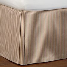 Heirloom Ticking Stripe Pleated Bed Skirt