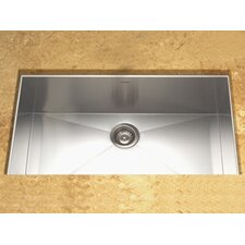 "Contempo 32"" x 18"" Zero Radius Undermount Large Single Bowl Kitchen Sink"