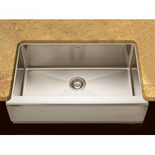 "Epicure 32.88"" x 20"" Farmhouse Single Bowl Kitchen Sink"