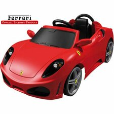 Feber Ferrari F430 6V Car in Red