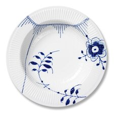 "Blue Fluted Mega 11.75"" Pasta Bowl"