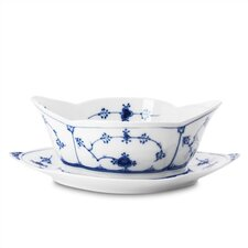 Blue Fluted Plain 15.75 oz. Sauce Boat