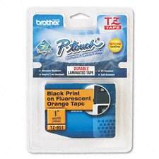 "P-Touch Tz Standard Adhesive Laminated Labeling Tape, 1"" Wide"