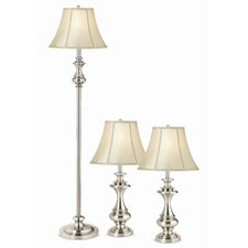 Essentials Broadway 3 Piece Table Lamp and Floor Lamp Set