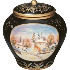 St. Petersburg Jar with Lid in Black