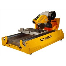 "1.5 HP 115 V 6"" Blade Capacity Wet Tile Saw with Transportation Wheels"