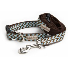 Blue Chevron Dog Collar