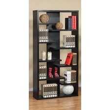 Payton Eight-Shelves Bookcase / Display Cabinet in Black