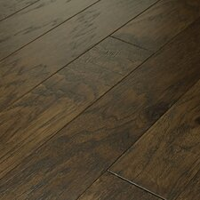 "Brushed Suede 4-1/2"" Engineered Hickory Flooring in Bison"