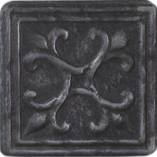 "Heritage Sagebrush Insert 2"" x 2"" Tile Accent in Wrought"