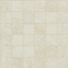 "Piazza 13"" x 13"" Mosaic Tile Accent in Ivory"