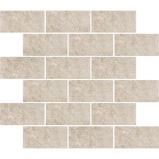 "Padova 10"" x 12"" Subway Mosaic Accent Tile in Gray"