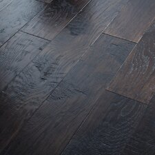 "Panorama 6-3/8"" Engineered Handscraped Hickory Flooring in Dusk"