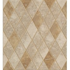 "Soho Rhomboid 12"" x 12"" Tile Accent in Gascogne Beige / Walnut"