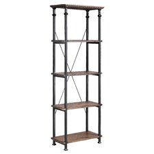 Urban Natural Poplar and Iron Etagere