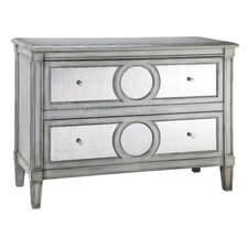 Cosmopolitan Mirrored Front 2 Drawer Chest
