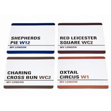 My London Drinks Coasters Assorted Designs (Set of 4)