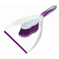 Colourworks Dust Pan and Brush in Purple