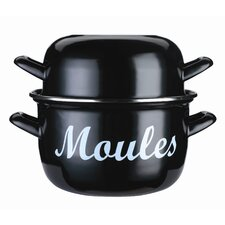 World of Flavours Enamelled Steel Mussel Pot