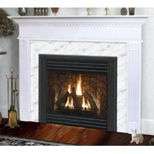 Deluxe Sienna Flush Fireplace Mantel with Large Opening