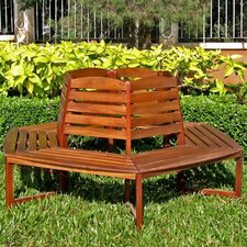 Acacia Patio Wood Tree Bench