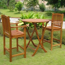 Royal Tahiti Terrassa 3 Piece Bistro Set