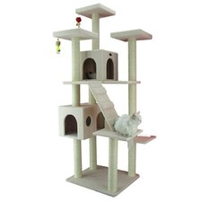"77"" Classic Cat Tree in Ivory"