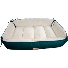 Reversible Dog Bed in Laurel Green and Ivory