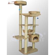 "77"" Solid Wood Cat Tree"