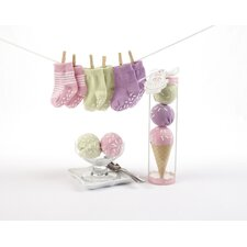 """Sweet Feet"" Three Scoops of Socks Gift Set in Pink"